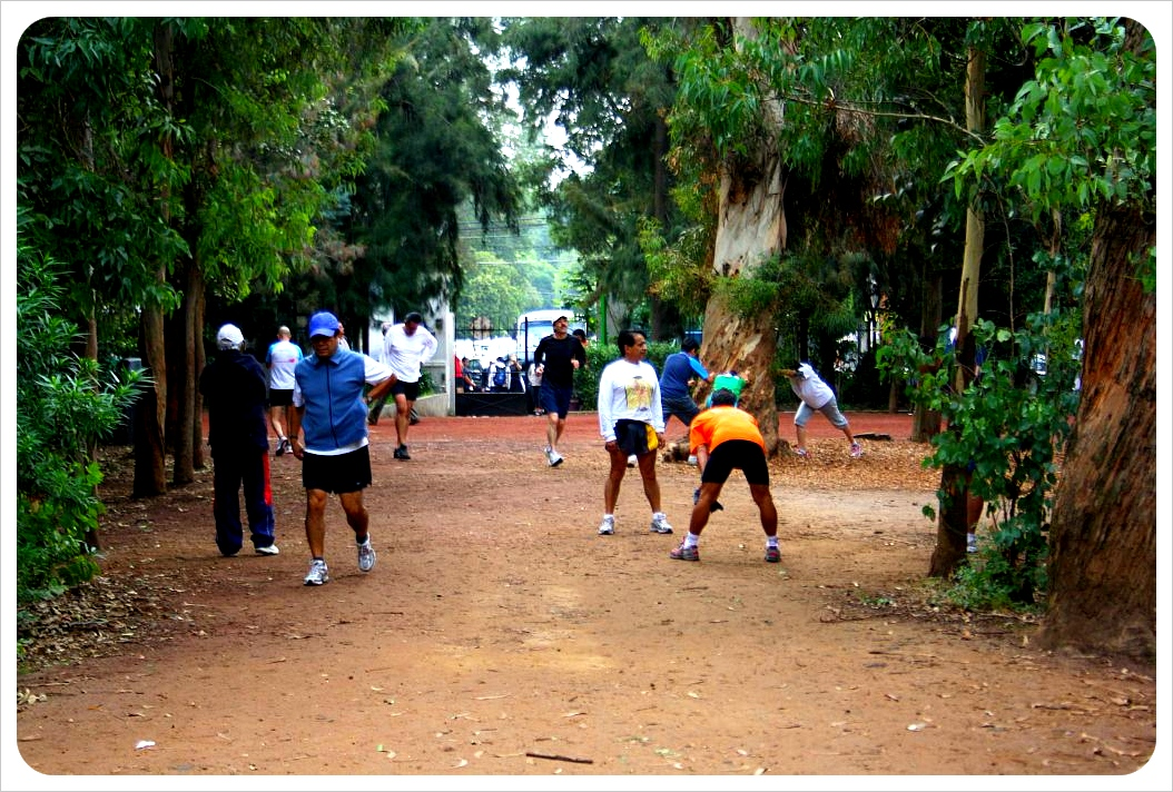 Joggers in Viveros Park
