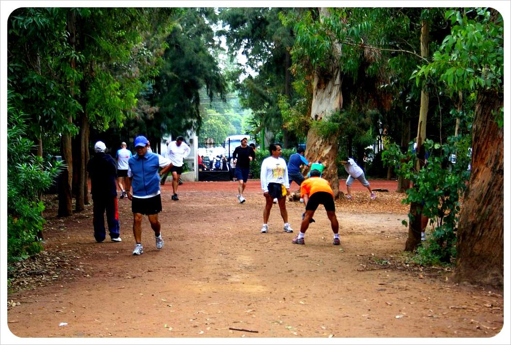 Joggers in Viveros Park