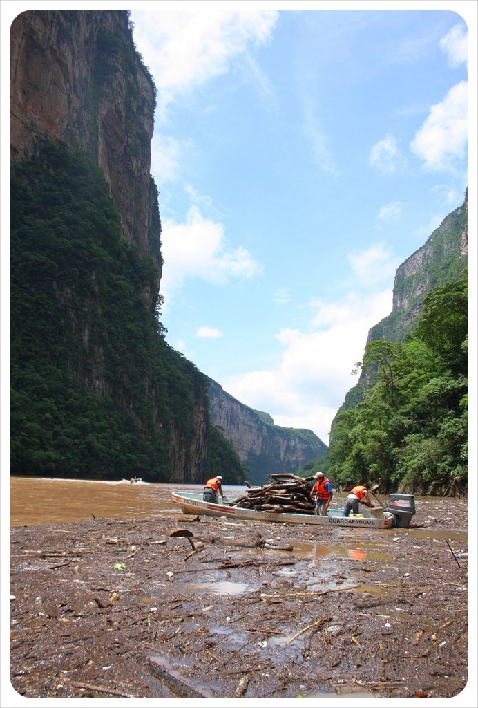 sumidero canyon garbage