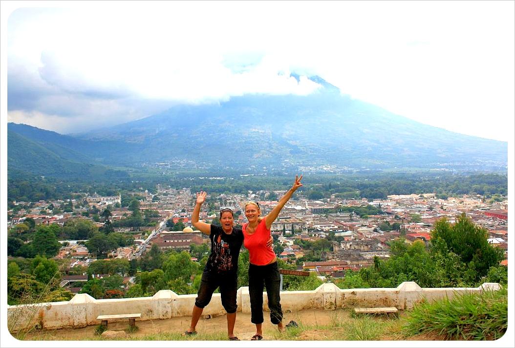 Dani & Jess at Cerro de la Cruz in Antigua