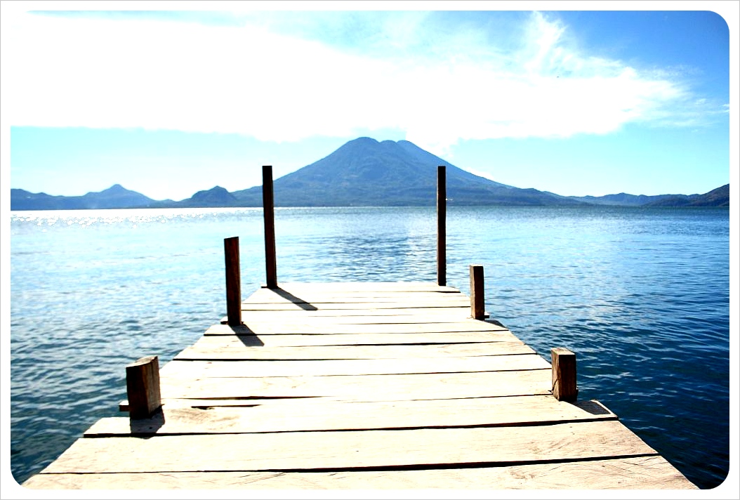 Jaibalito dock Lake Atitlan