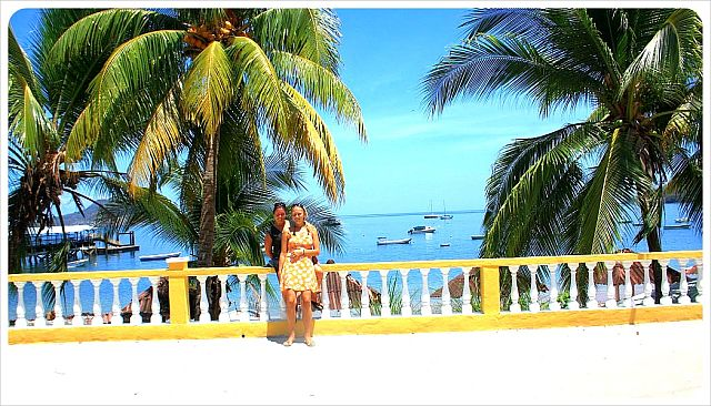 Dani and Jess on Taboga Island Panama