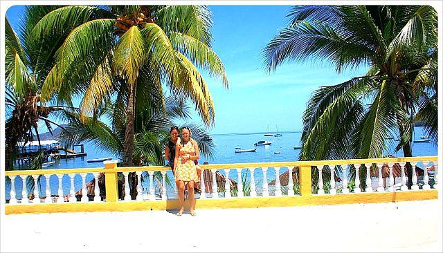 Dani and Jess on Taboga Island Panama