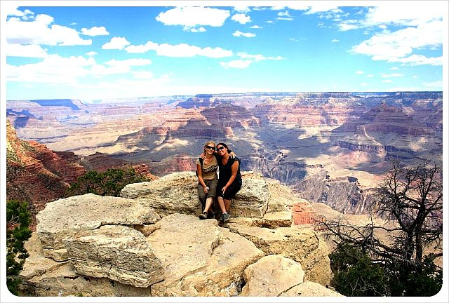 Globetrottergirls at the Grand Canyon