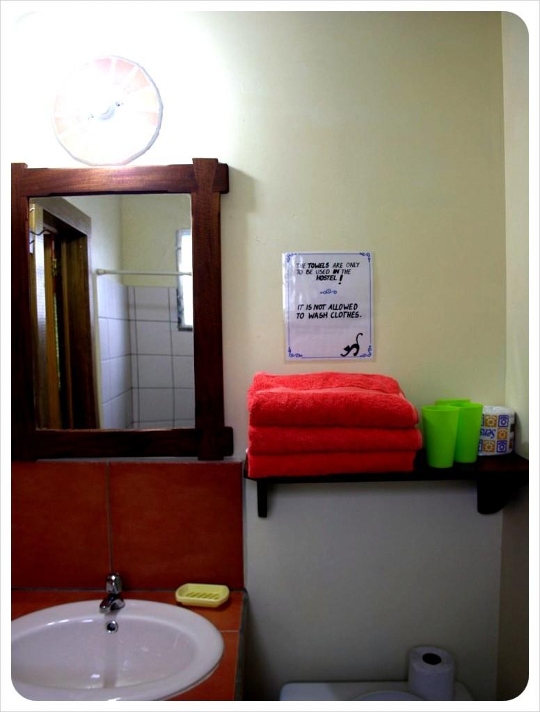 Hostel Bathroom Bocas del Toro Panama