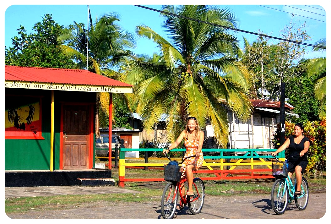 Cycling along the Caribbean Coast in Costa Rica