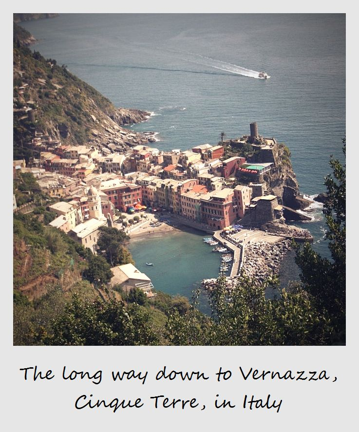 polaroid of the week italy cinque terre vernazza