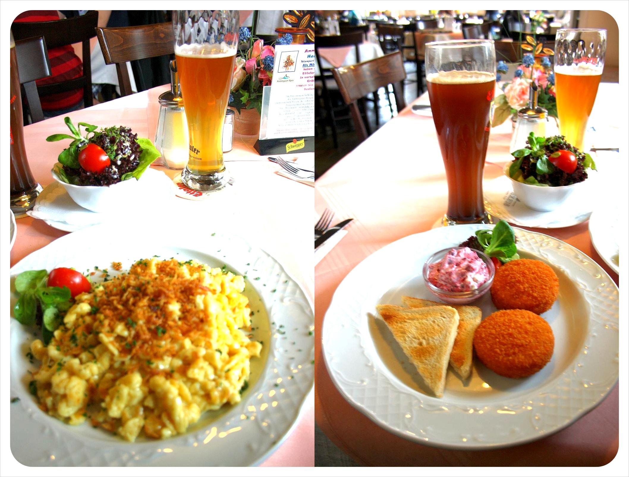 Bavarian food & Hefeweizen beer