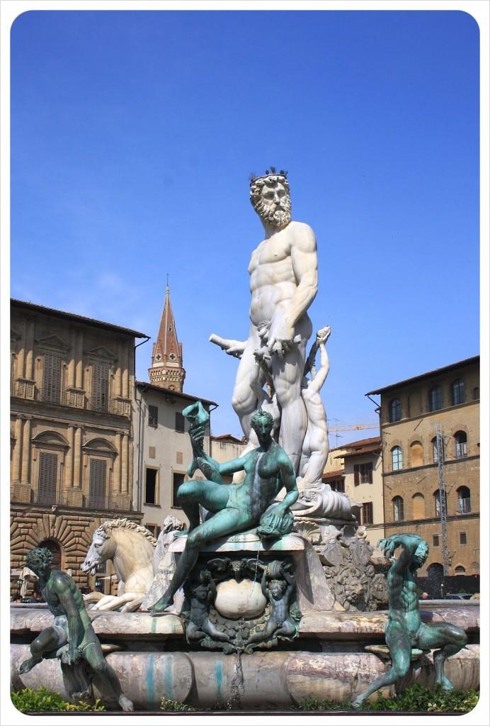 Fountain of Neptune by Bartolomeo Ammannati, Florence, Italy