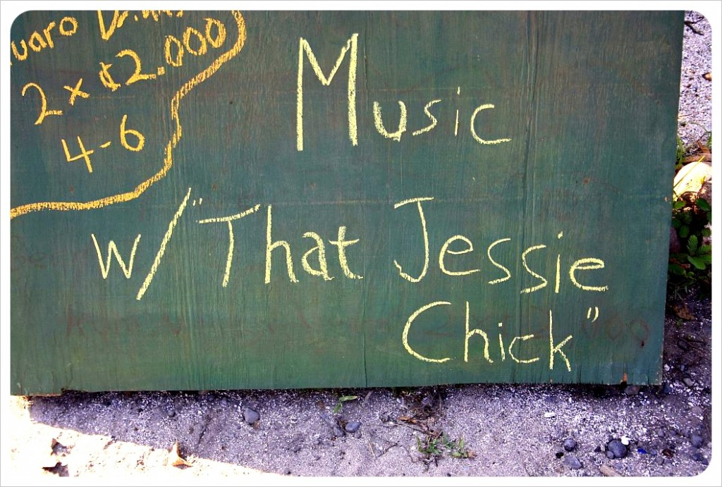 Music with that Jessie chick in Puerto Viejo, Costa Rica
