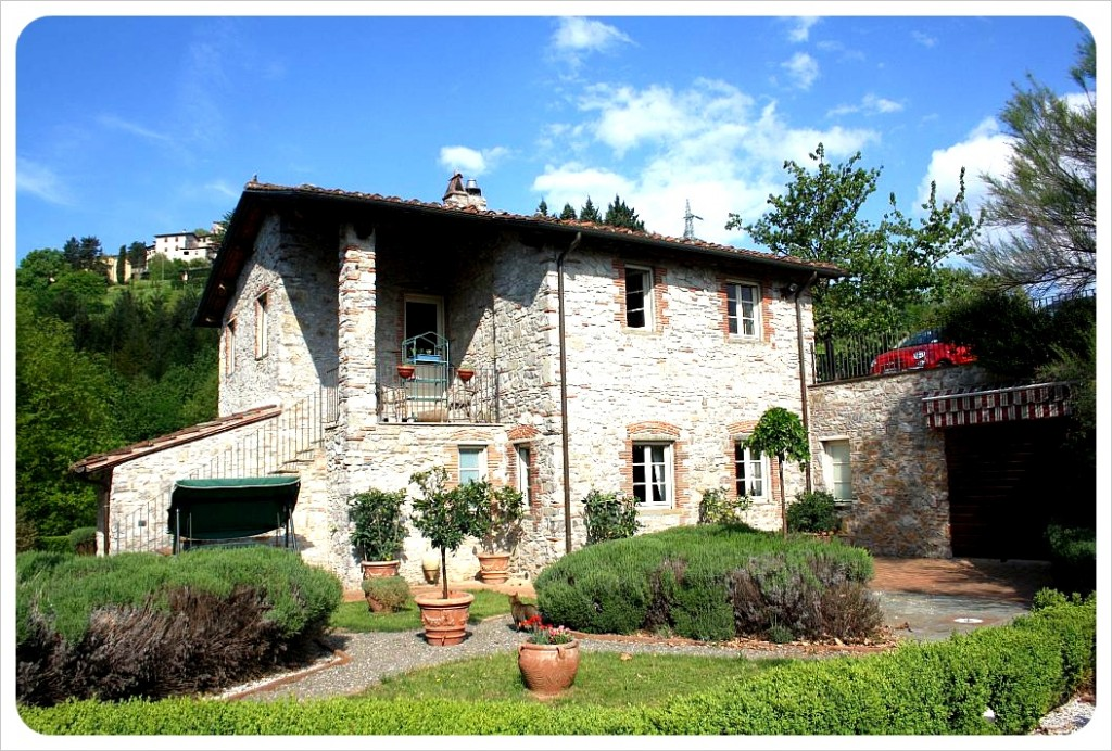 Our home for two weeks - an Italian farmhouse in Tuscany