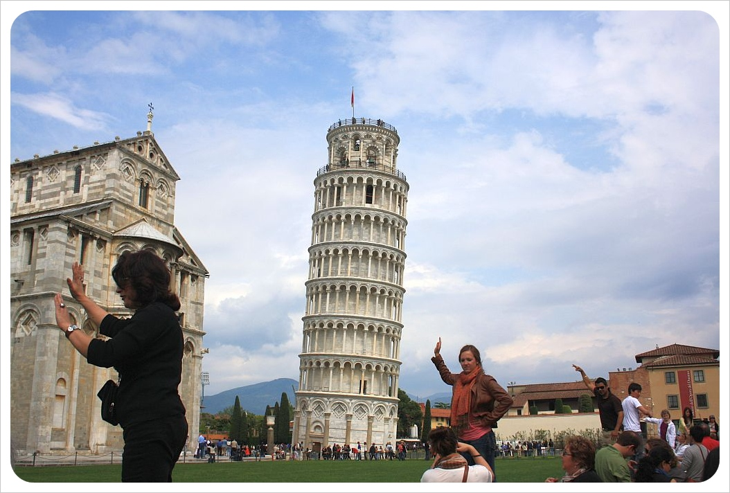 Tourists in Pisa