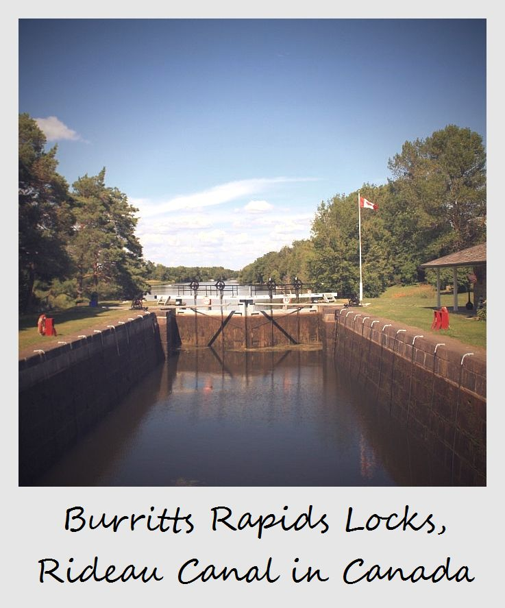 polaroid of the week canada rideau canal burritts rapids locks
