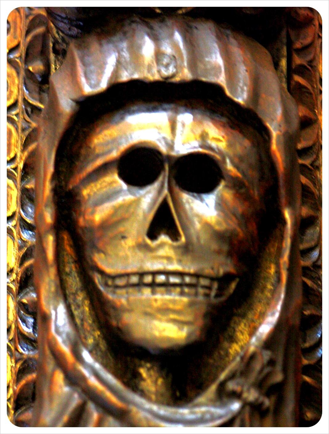 skull in italian church