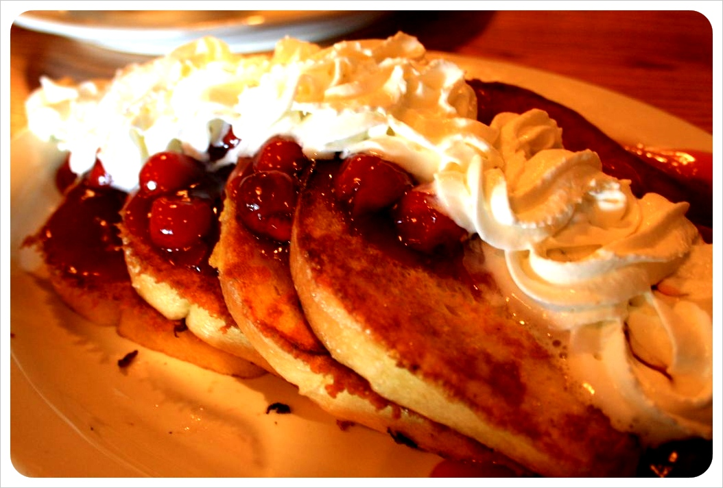 French toast with cherries