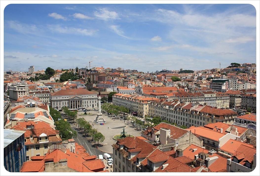 Lisbon view rossio square