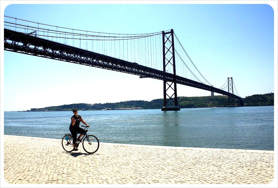 lisbon bike ponte 25 abril