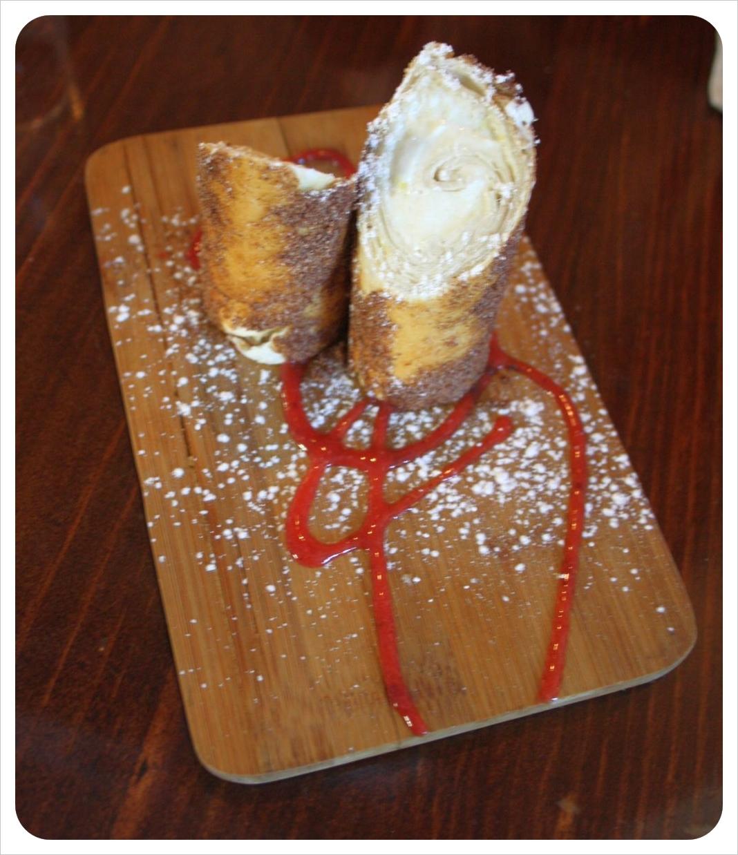 philadelphia cheese cake churro at Hawthornes