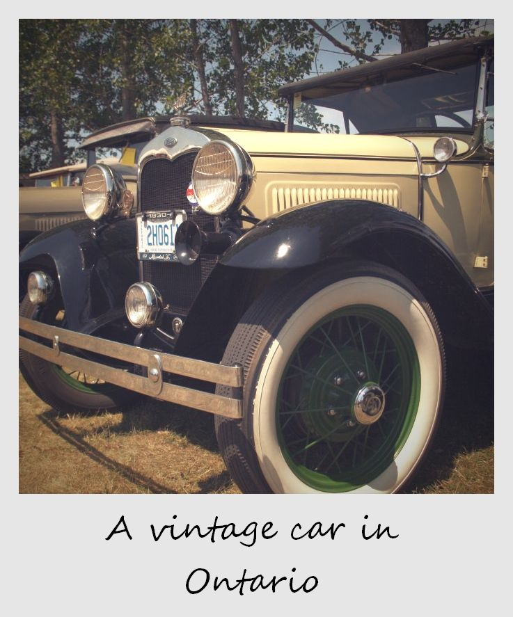 Polaroid of the week Canada Merrickville Vintage Car