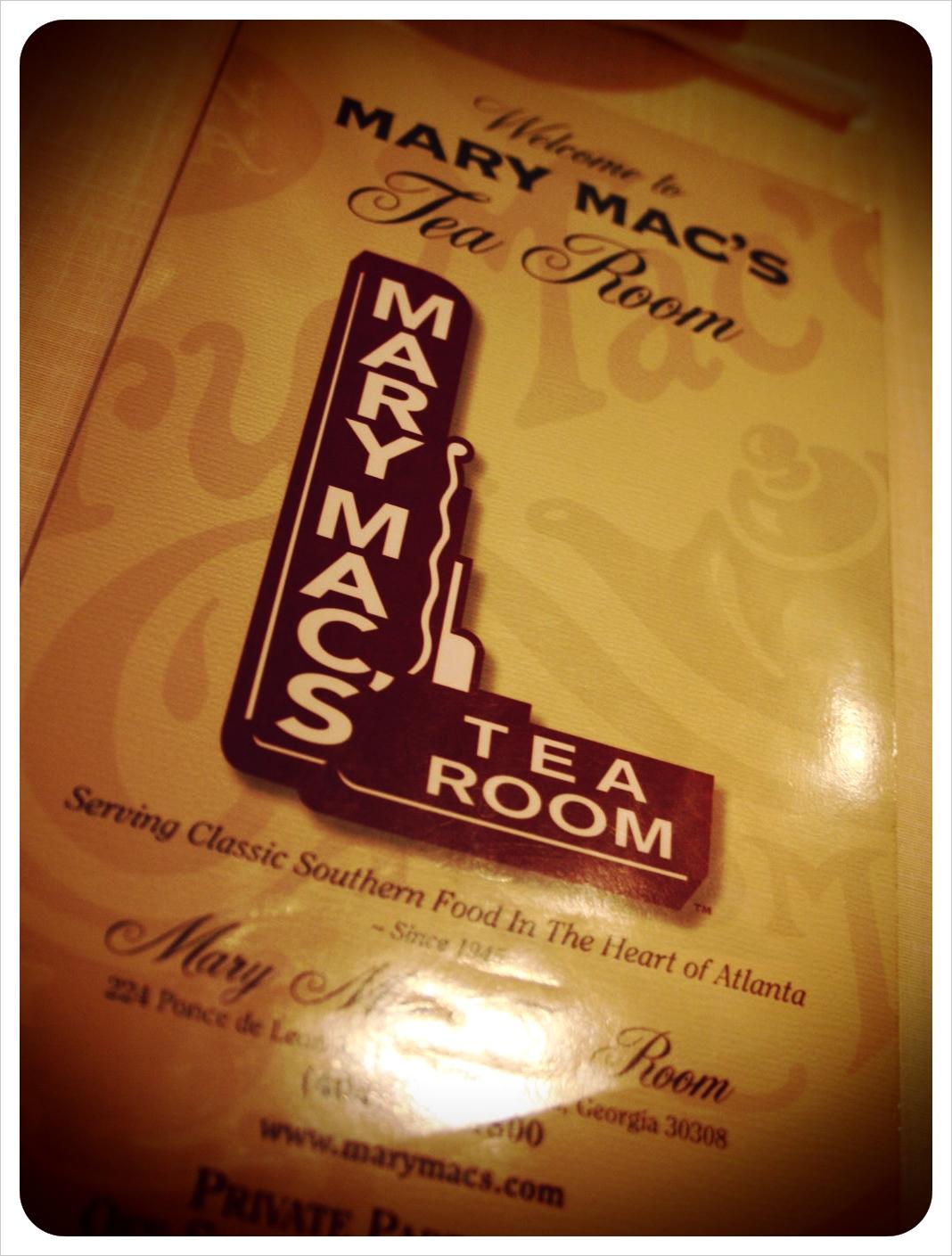 Mary Macs Tea Room Atlanta