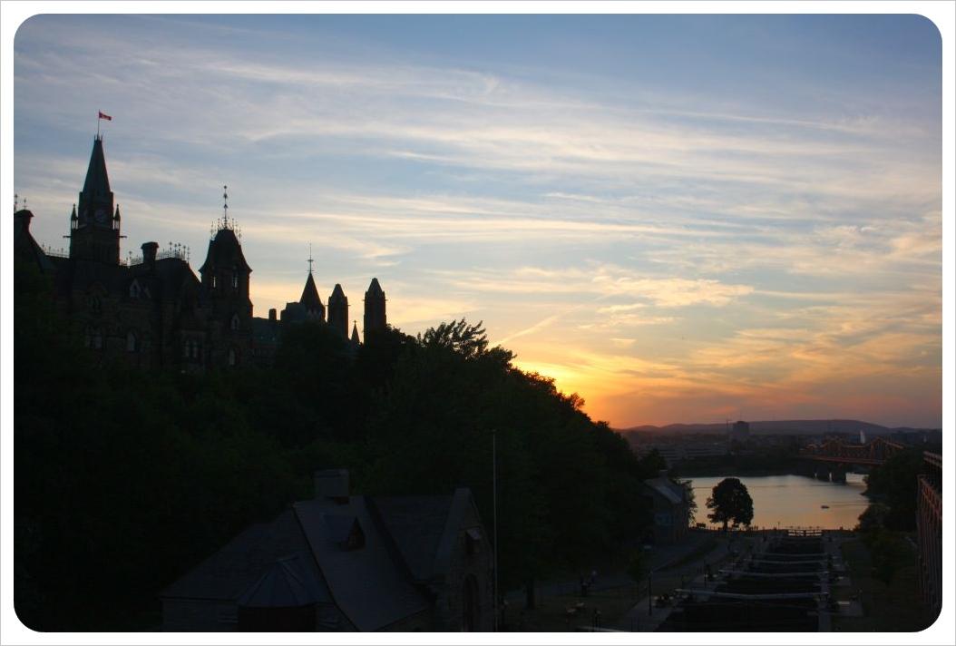Ottawa parliament sunset