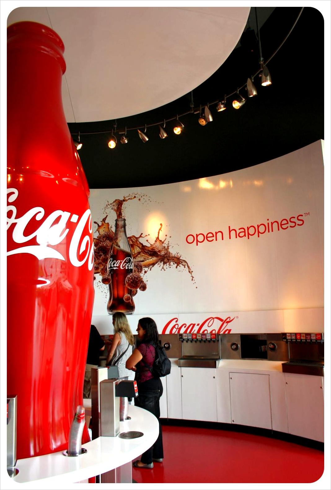 World of coke tasting room