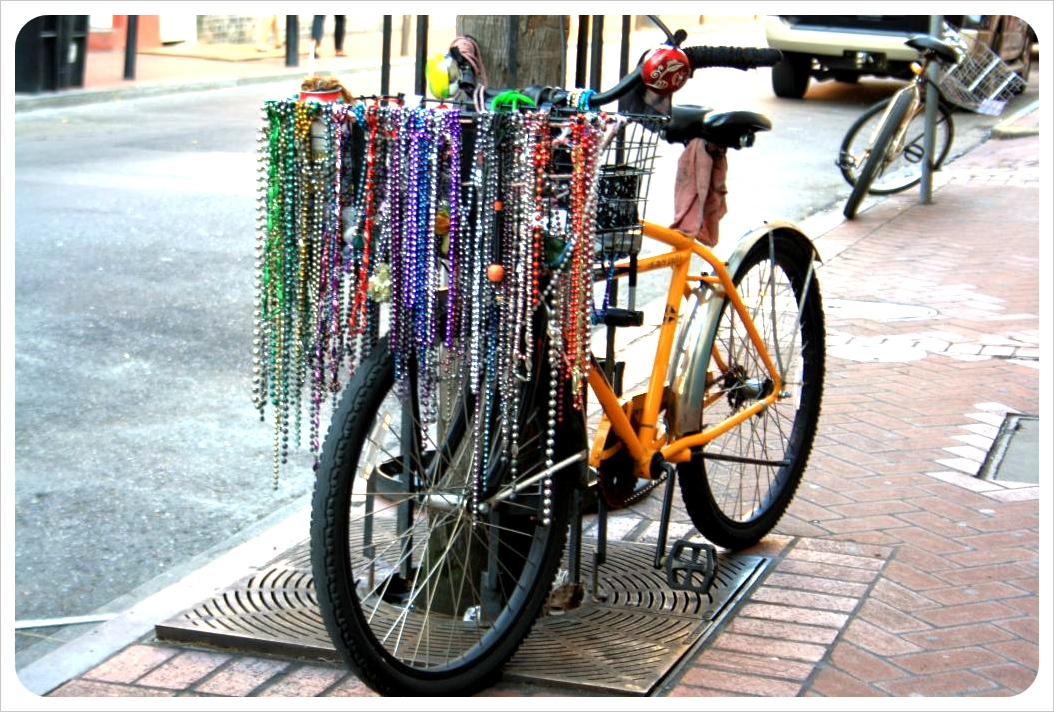 bike with beads new orleans