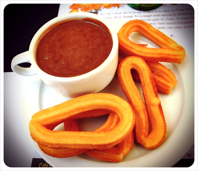 churros con chocolate spain