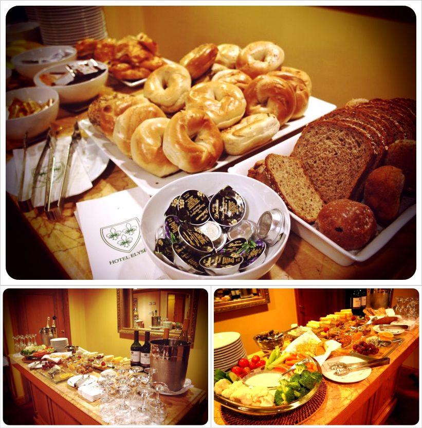 hotel elysee breakfast & snacks new york city