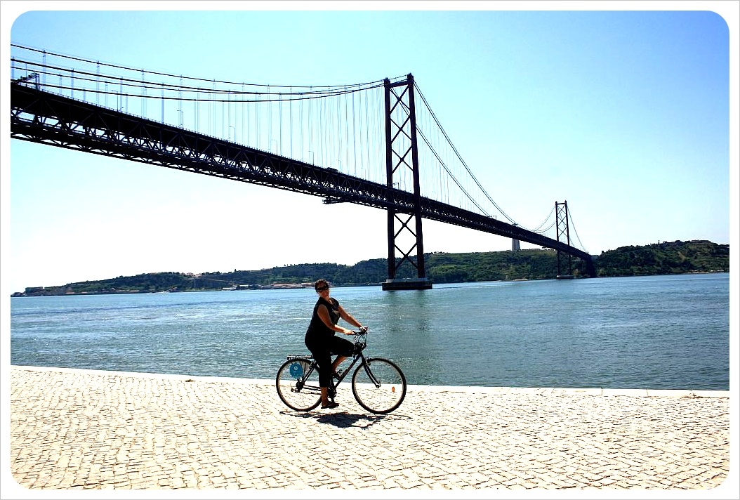 lisbon bicycle path to belem
