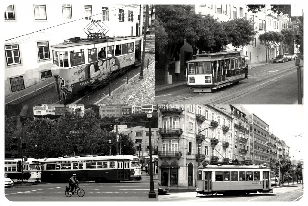 lisbon san francisco street cars & trams