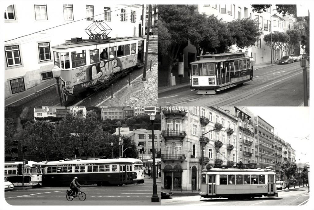 lisbon san francisco street cars & trams