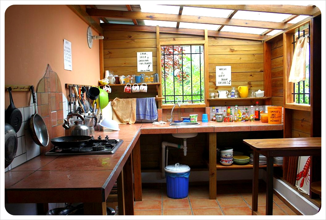 Kitchen at Hostal Hansi in Bocas del Toro, Panama