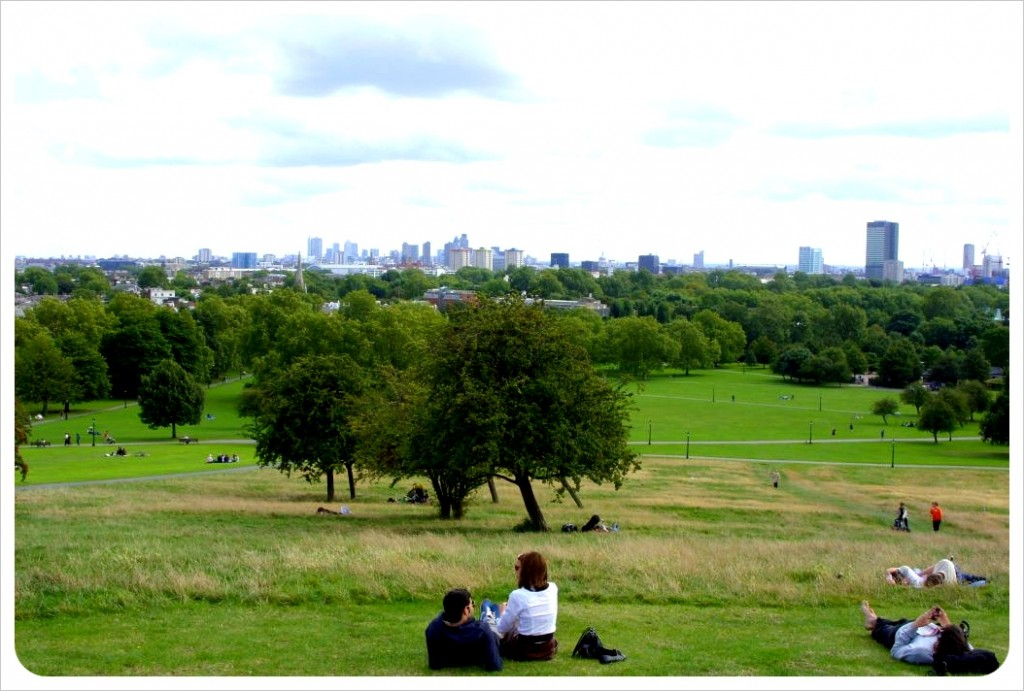 London views from Primrose hill