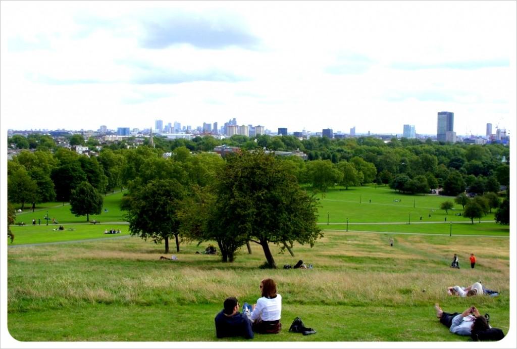 London views from Primrose hill