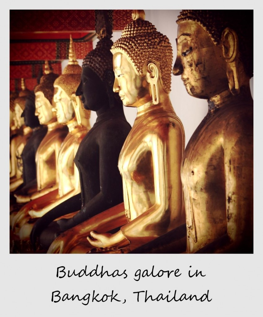 polaroid of the week thailand bangkok buddhas