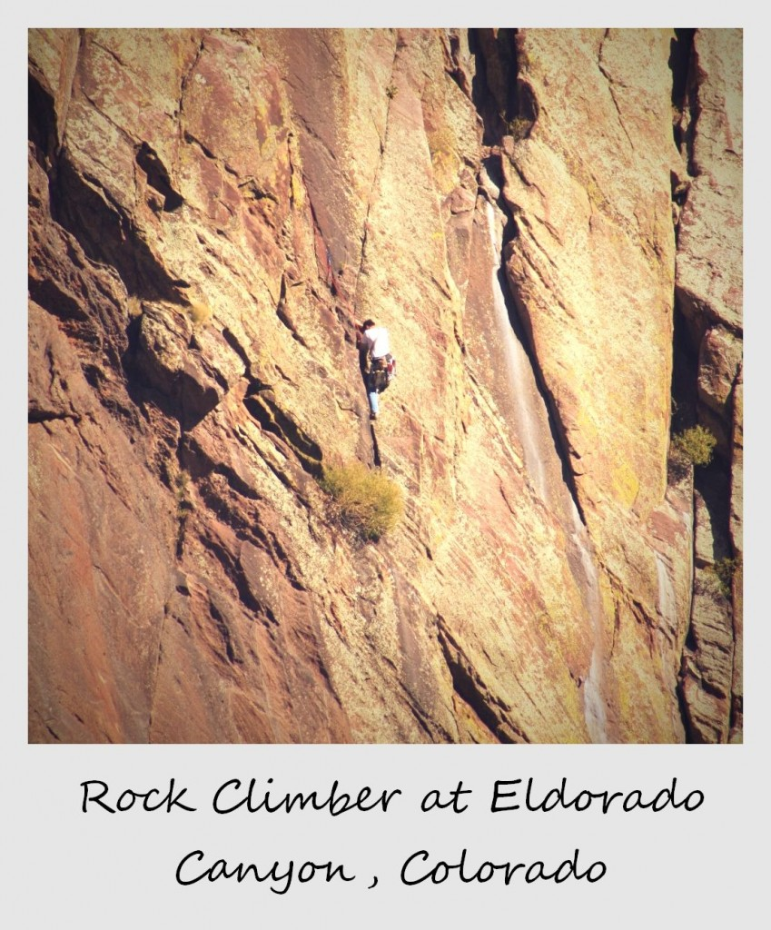 polaroid of the week usa colorado el dorado rock climber
