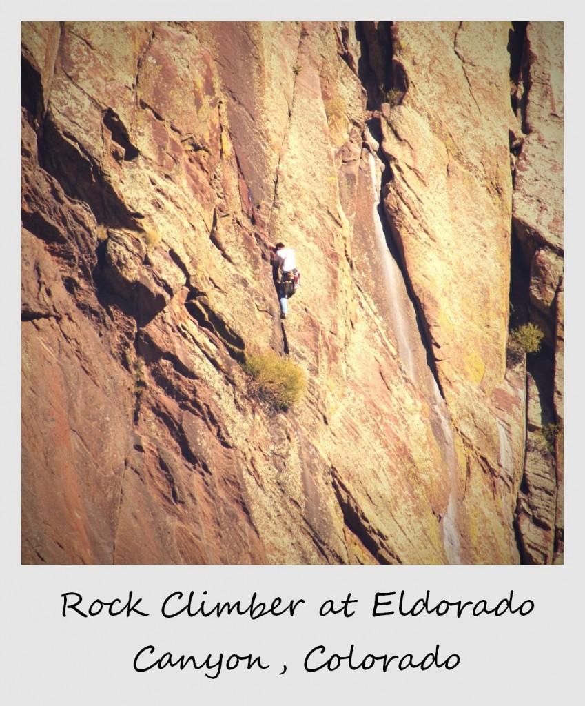 polaroid of the week usa colorado el dorado rock climber