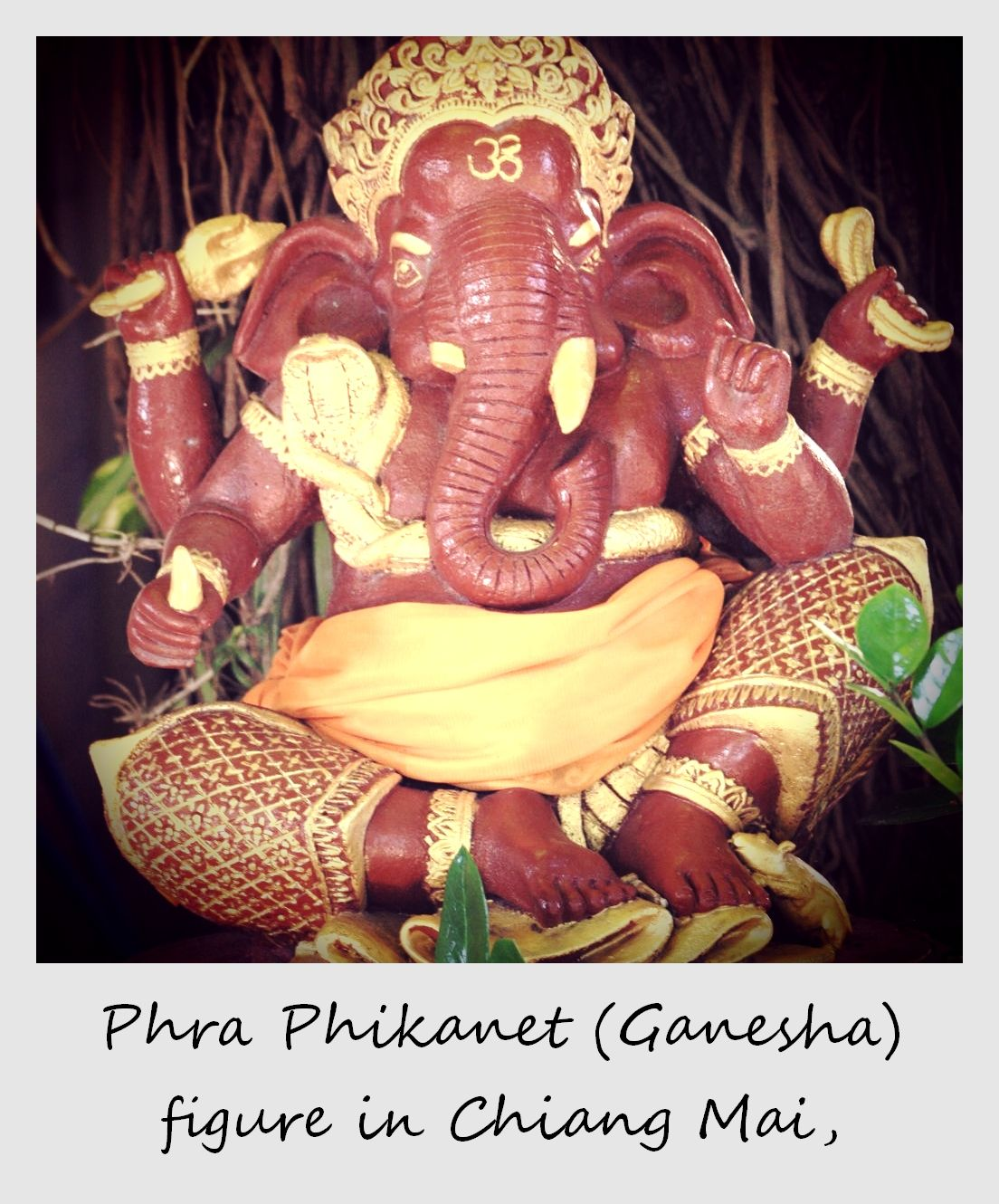 polaroid of the week thailand chiang mai phra phikanet ganesha figure