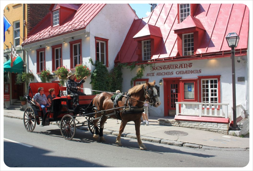 quebec city horse-drawn carriage