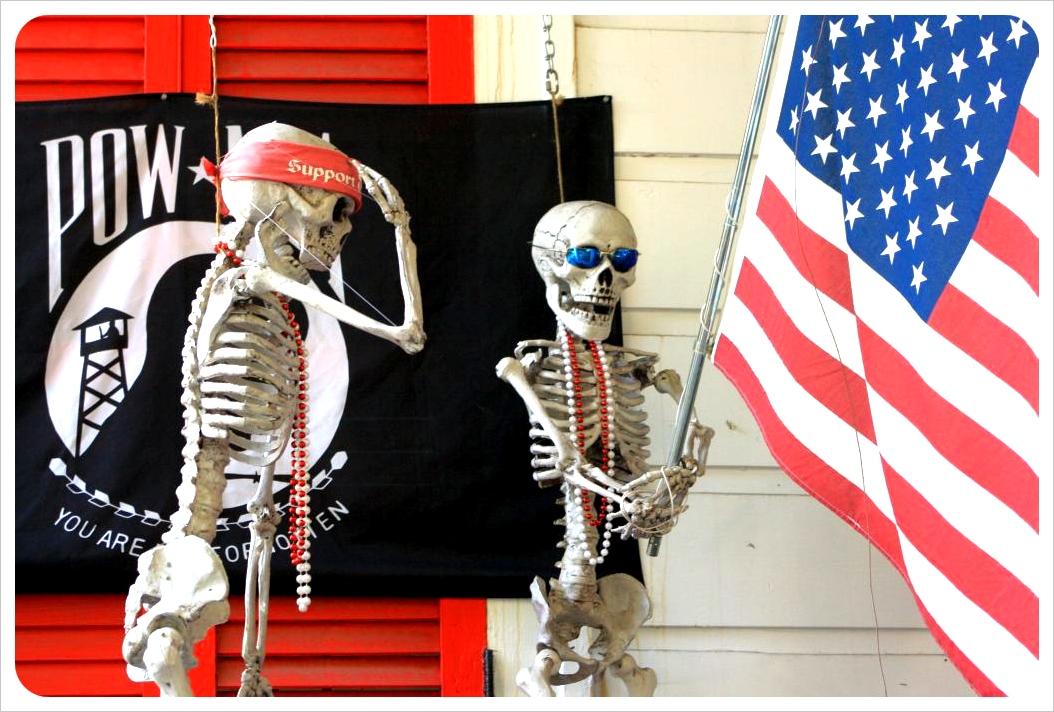 september New Orleans voodoo skeletons