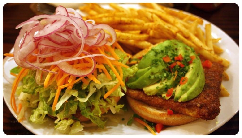 native foods cafe vegan burger