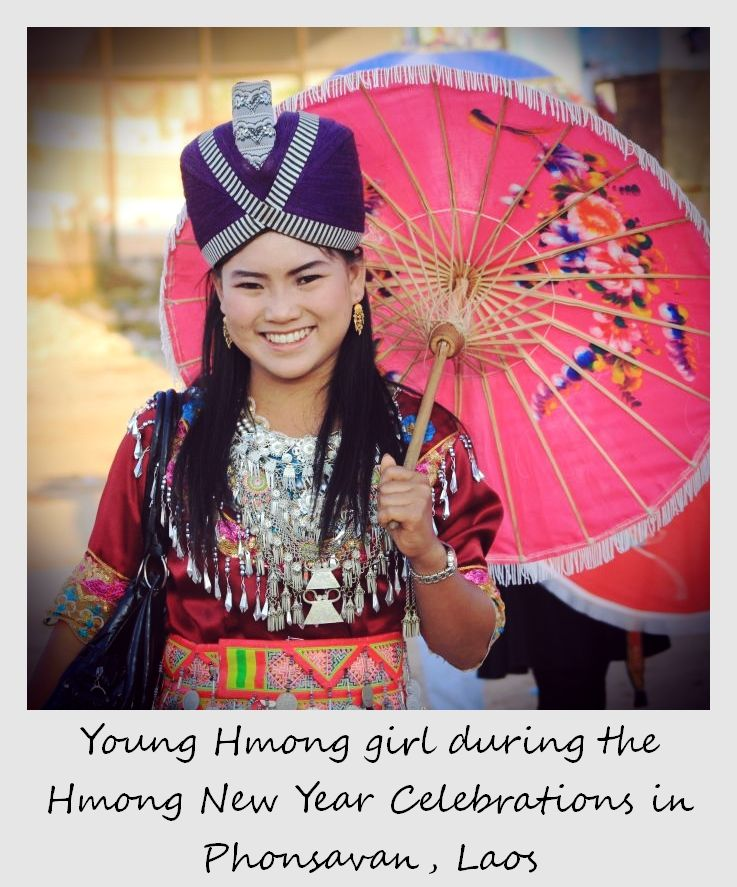 polaroid of the week laos phonsavan hmong girl with umbrella