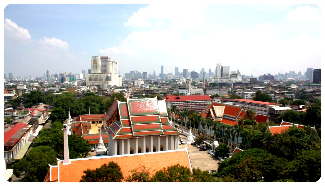 view over bangkok & temple