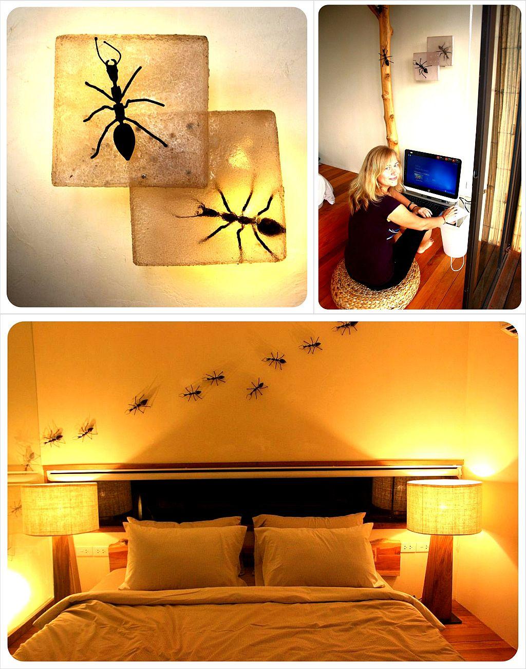 bangkok tree house bedroom