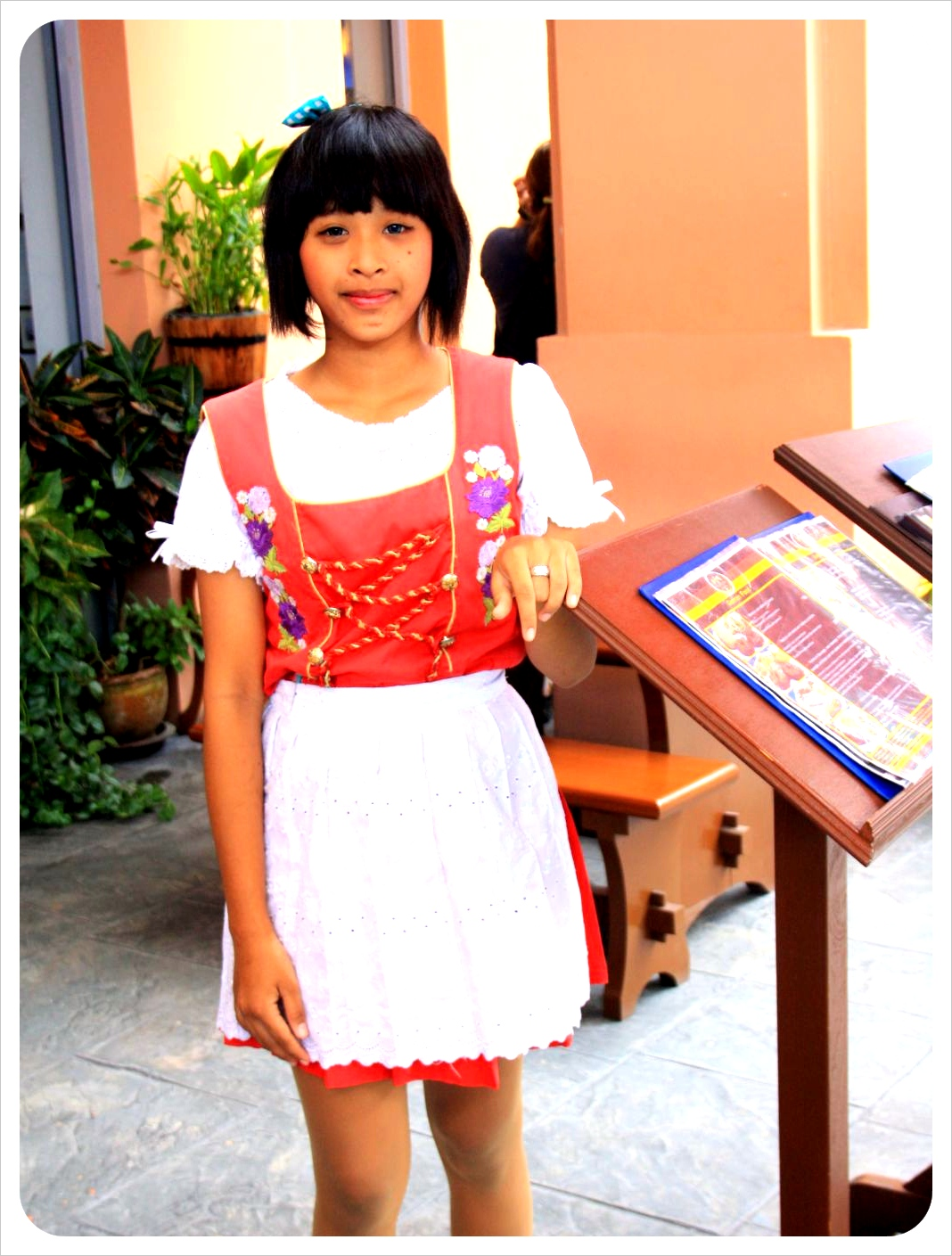 thai girl in bavarian dirndl