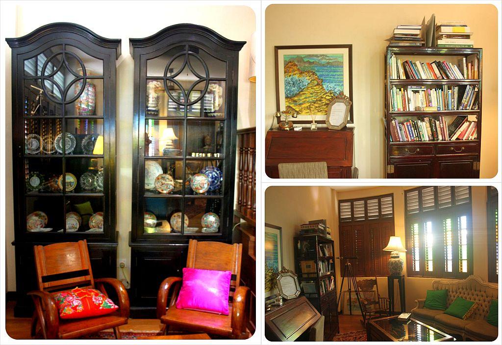 library at campbell house hotel penang