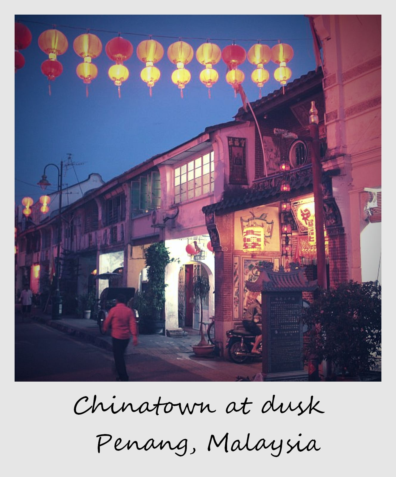 polaroid of the week malaysia georgetown penang chinatown at night