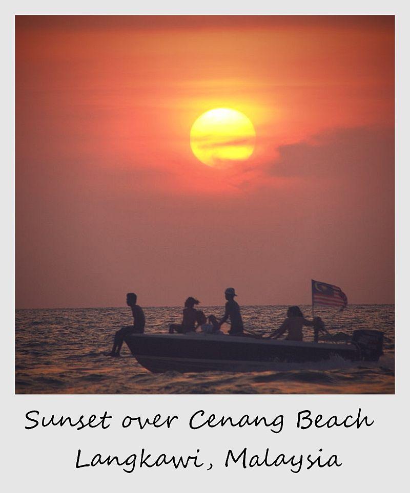 polaroid of the week malaysia langkawi sunset