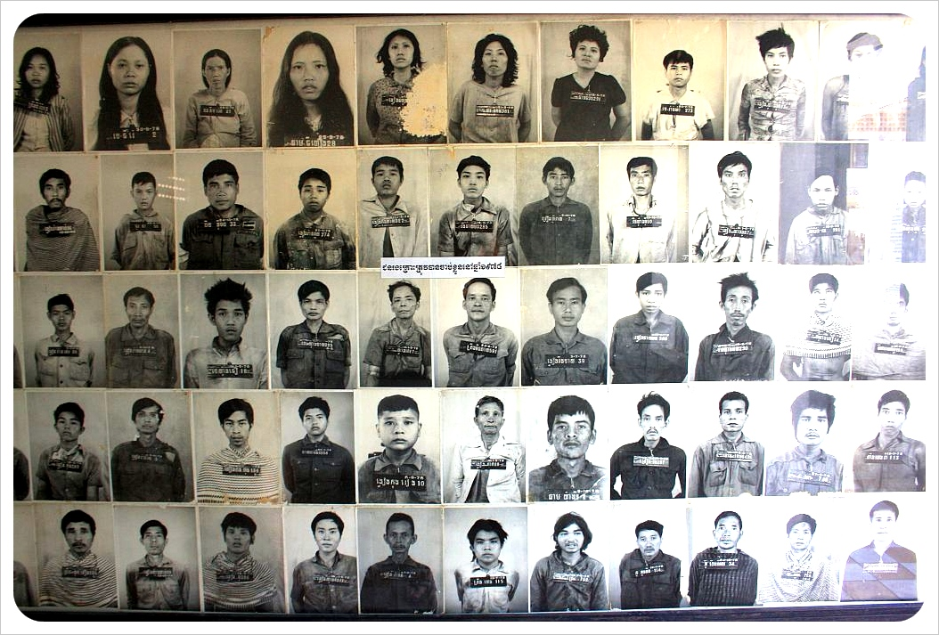 photos of victims at tuol sleng prison
